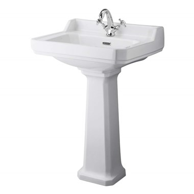 Butler & Rose Catherine 600mm 1 Tap Hole Basin & Pedestal